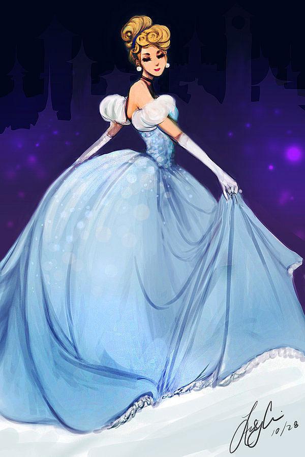 Как выглядит современная Золушка (Cinderella) на рисунках разных художников