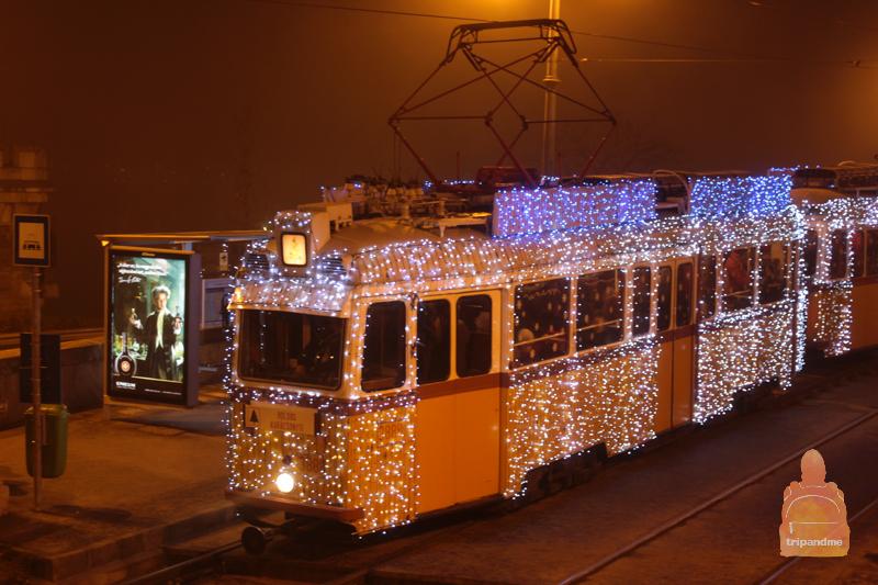 Будапешт - новогодний трамвай