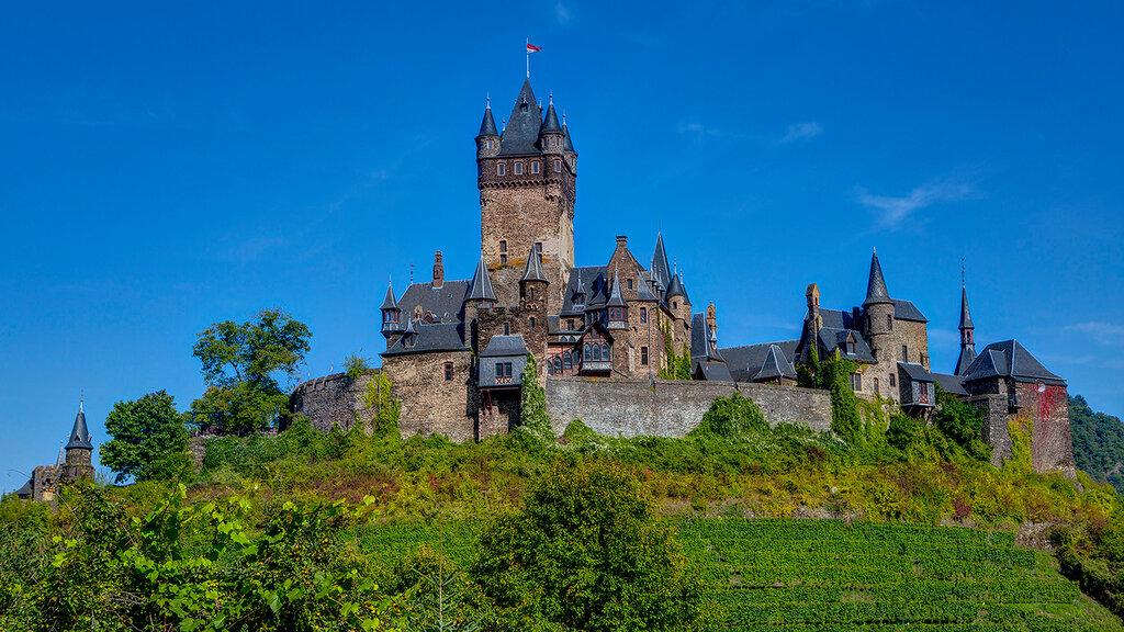Германия. Мозель. Кохем. Замок Райхсбург (Reichsburg)