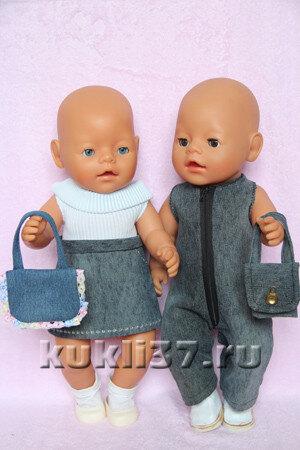 джинсовые сумочки для куклы
