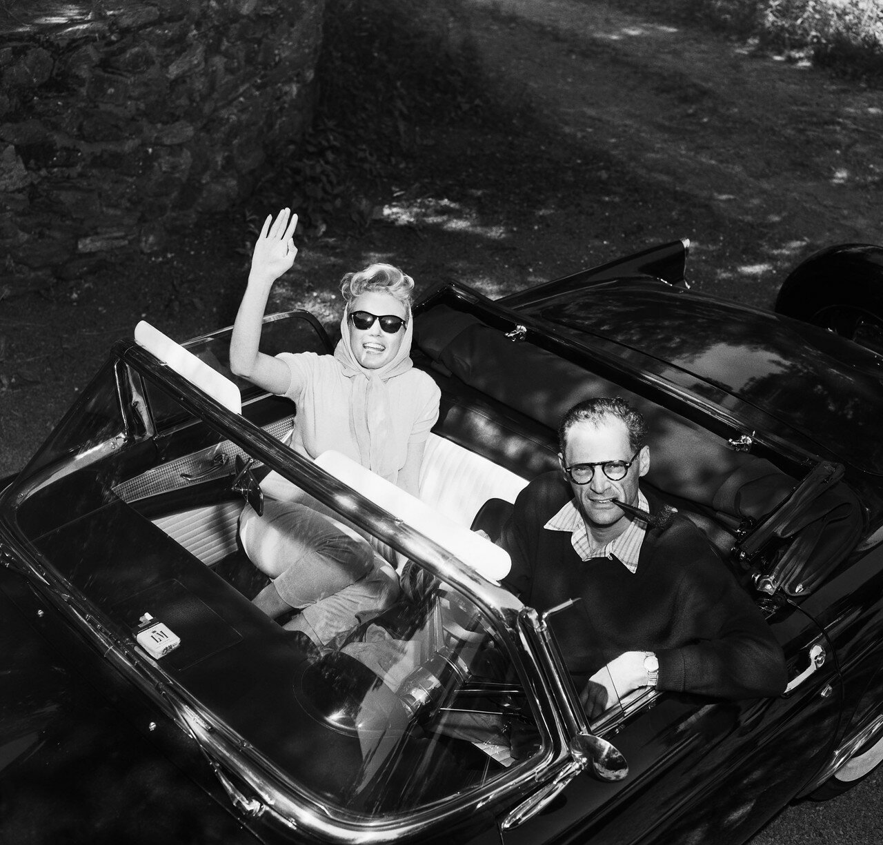 Monroe and Miller in Their Car