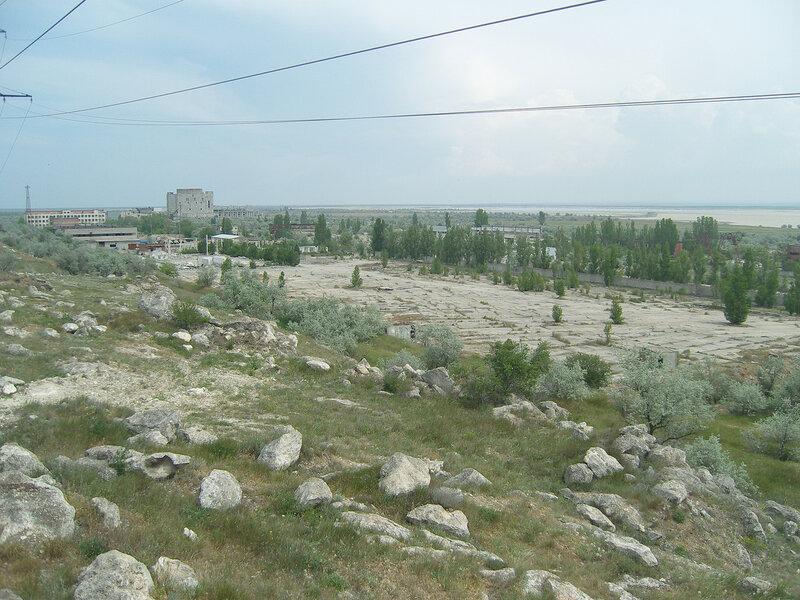 территория недостроенной АЭС