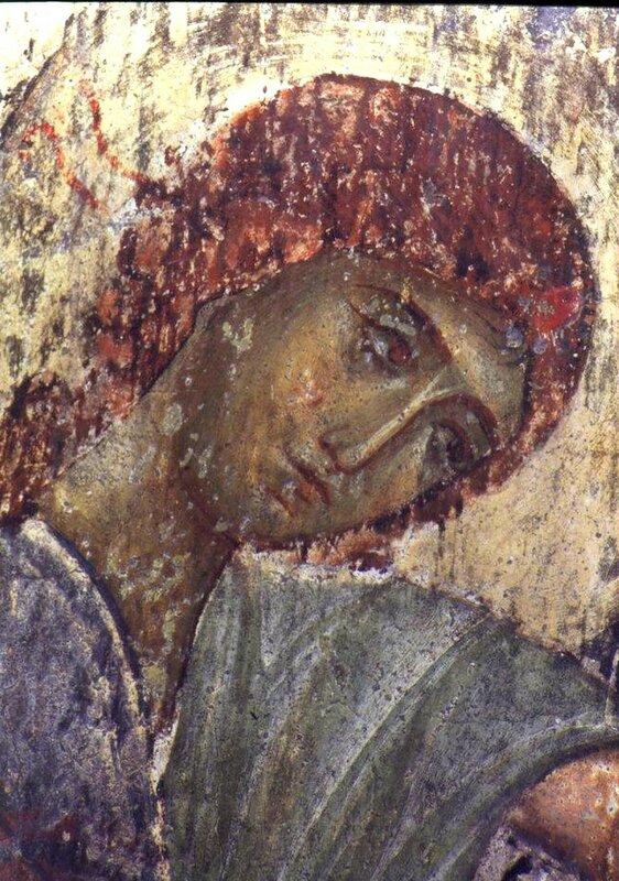 Ангел Господень. Фреска монастыря Вардзиа (Вардзия), Грузия.