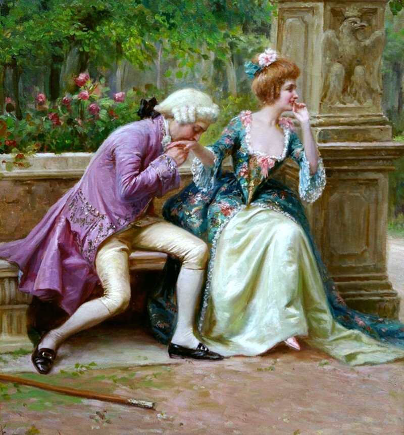 Auguste Serrure An Amorous Advance