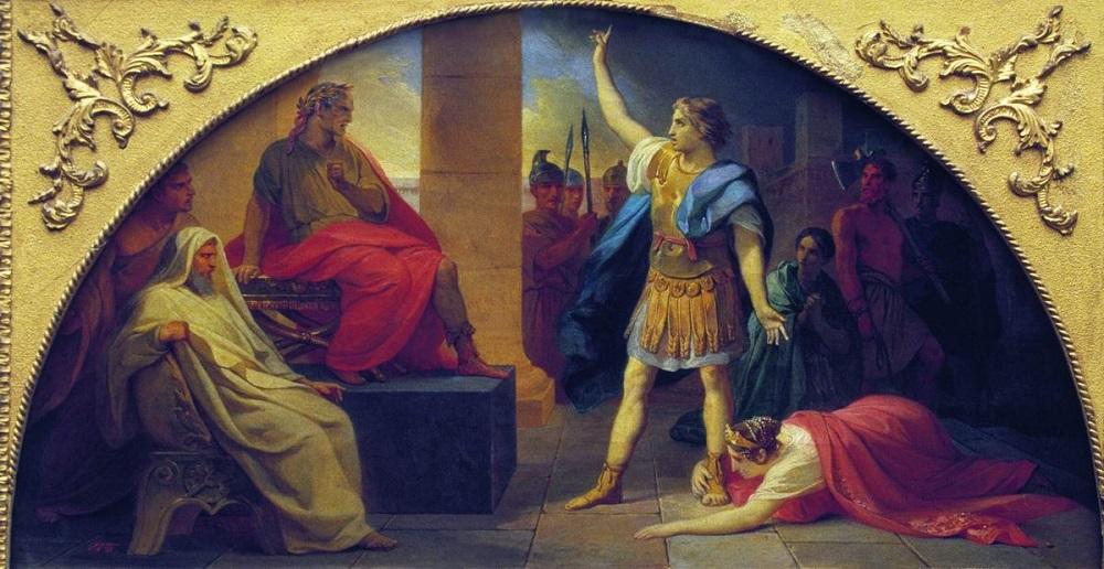 4 Басин Петр Васильевич Святой Георгий 1857 холст, масло, 33 х 61, ГРМ.jpg