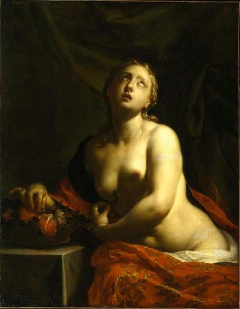 Смерть Клеопатры Франческо, прозванный Романо Тревизани  автор  Конец 1710-х  холст, масло  128,5х96 см.jpg