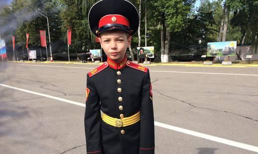 Московский суворовец получил часы отШойгу