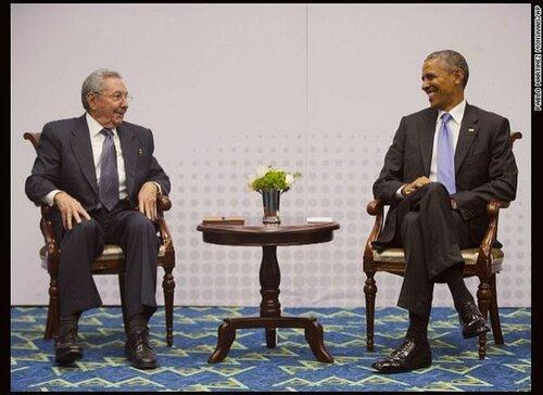 Лидеры Кубы и США впервые за одним столом за 50 лет