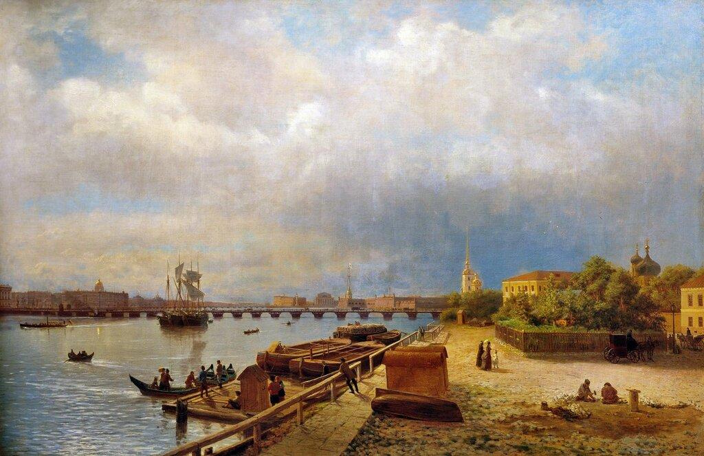 Вид на Неву и Петропавловскую крепость. 1859.jpg