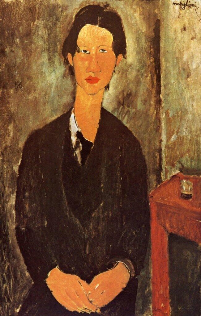 1916 Portrait de Chaïm Soutine  Huile sur Toile    92x60 cm  wngoa.jpg