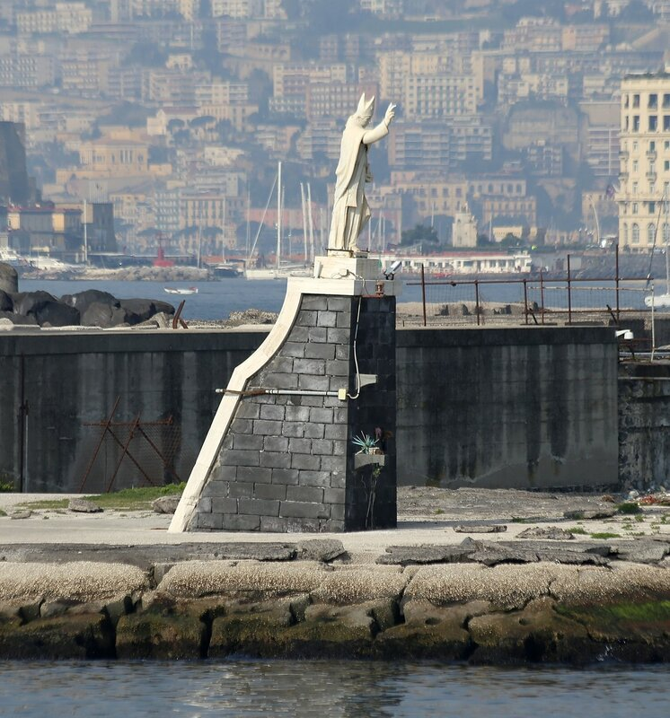 Naples. They say San Vincenzo, the statue of St. Januarius.
