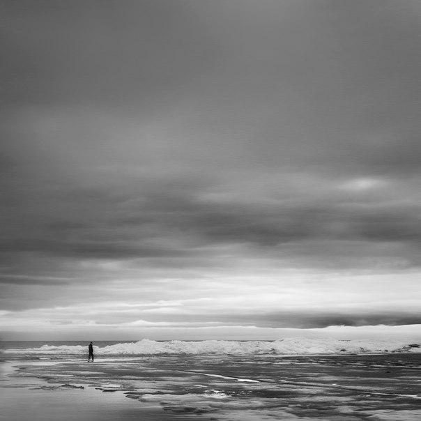 художественная фотография черно белая одиночество уединение приро