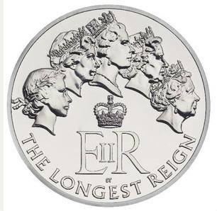 В Британии выпустили памятную монету в честь королевы Елизаветы II
