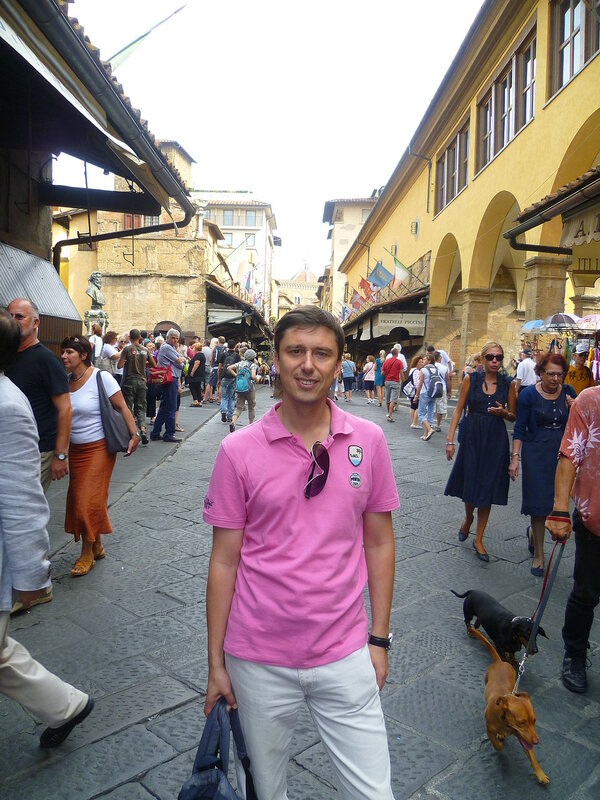 Италия, Флоренция. Мост Веккьо (Italy, Florence. Vecchio bridge)