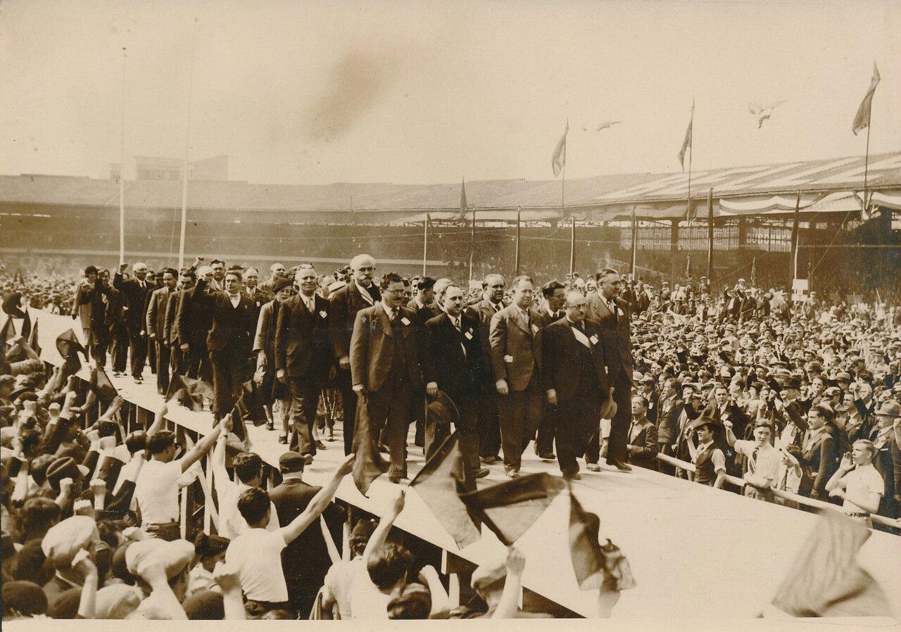 1936.Праздник победы Народного фронта на стадионе Буффало