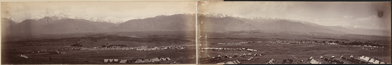 1890-е. Панорама Сефид-Куха. Афганистан