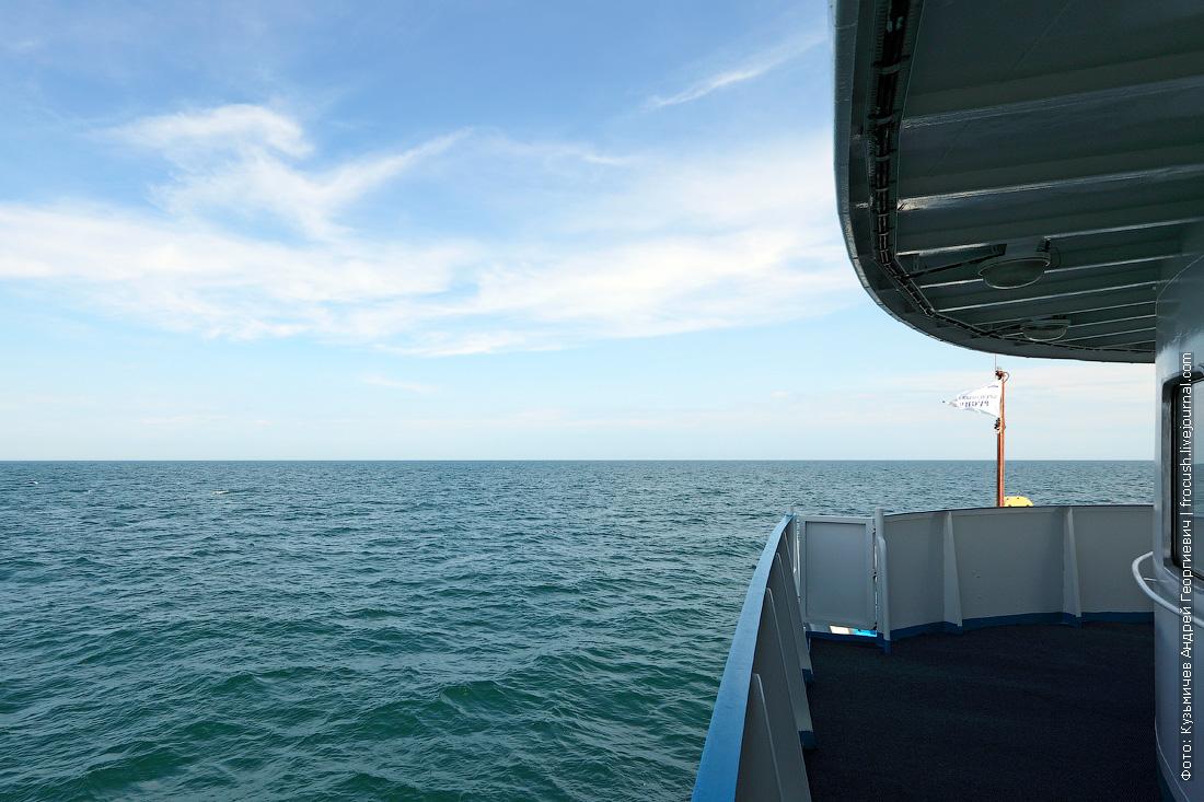 фотография Каспийского моря с борта теплохода Русь Великая