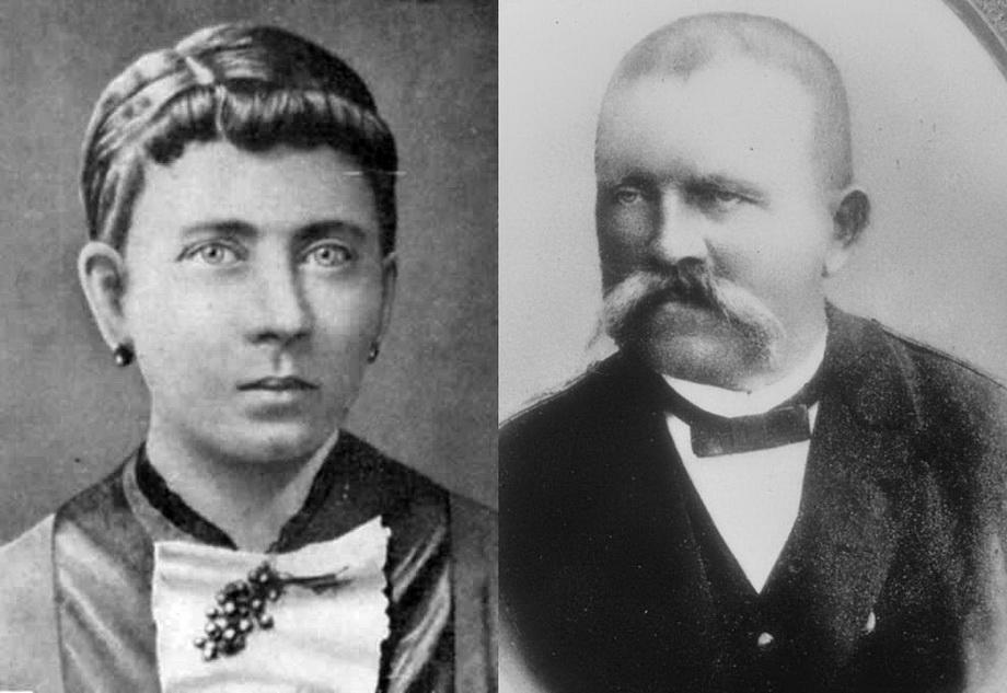 Родители Гитлера: Клара и Алоис.
