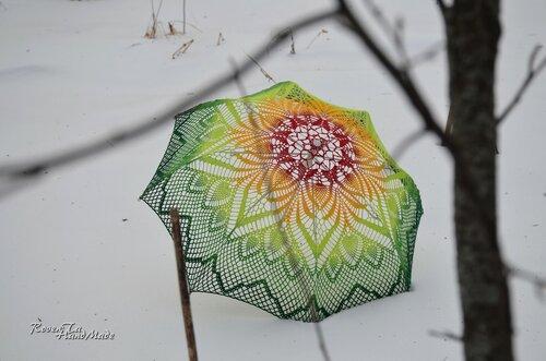 crocheted umbrella, roventa-handmade, umbrella, wedding umbrella, ажурный зонт, вязаный зонт, вязаный зонтик, зонт крючком, свадебный зонт
