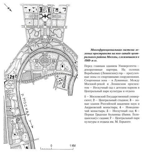 Многофункциональная система зеленых пространств юго-западного района центра Москвы, генеральный план