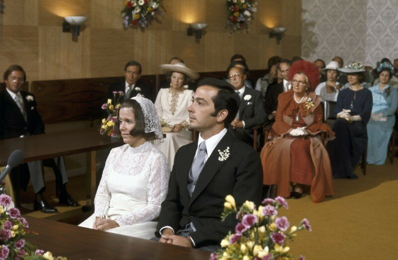 1975. Свадебная церемония в Ратуше города Баарна