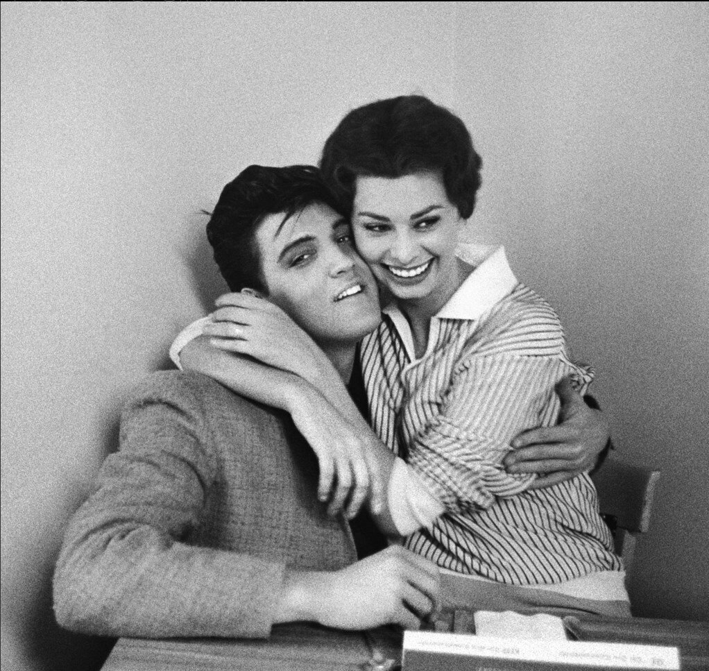 1958. Элвис Пресли и Софи Лорен