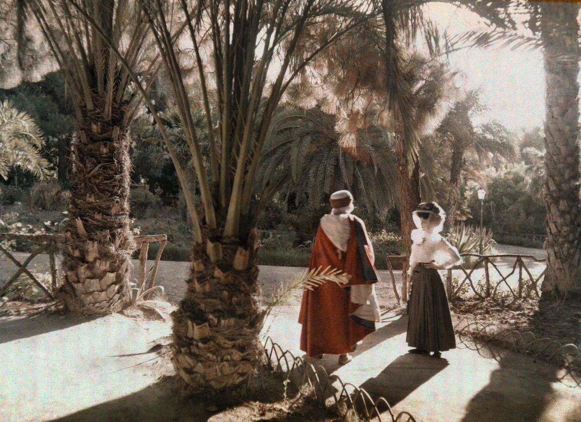 1923. Алжир. Посетители сада в Алжире