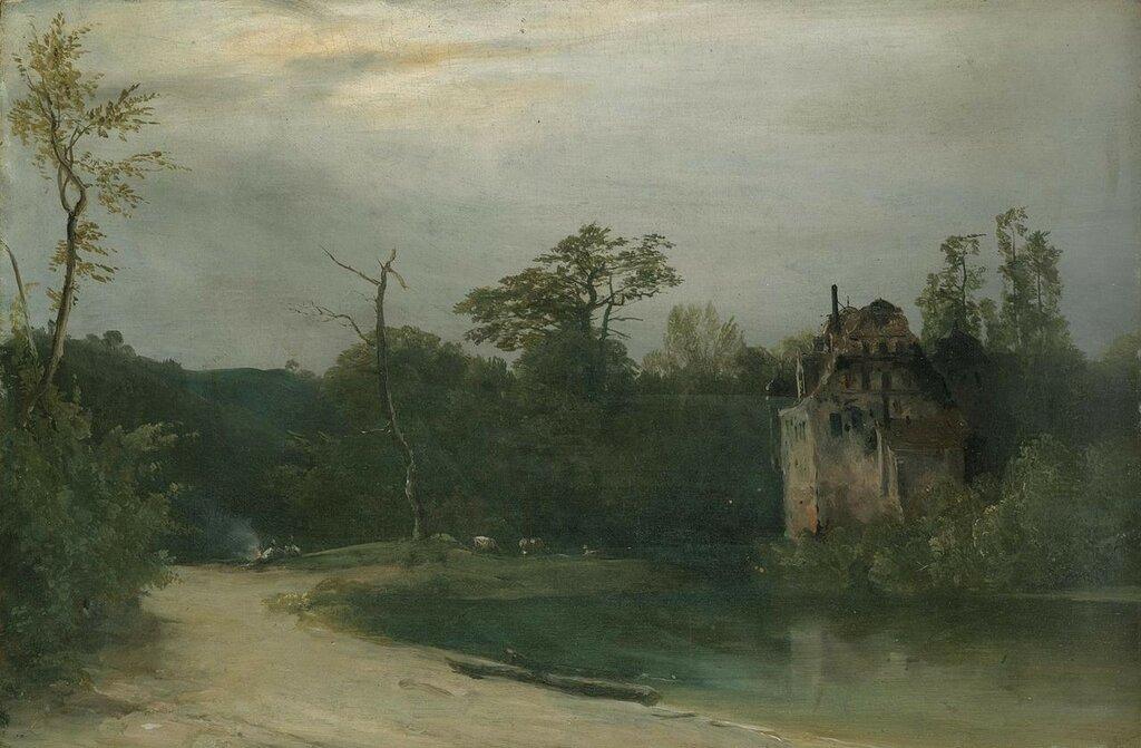 1280px-Carl_Blechen_-_Waldlandschaft_mit_Schloss_am_Wasser.jpg