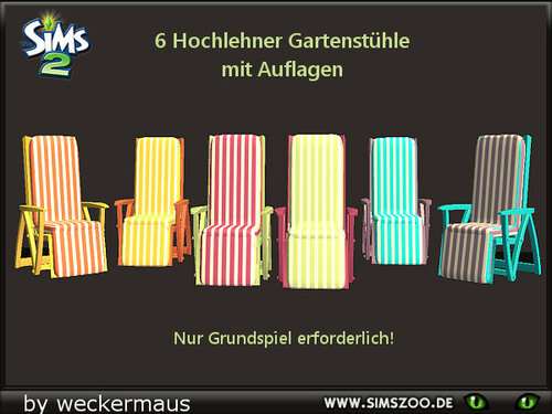 Outdoor chairs with recolors by weckermaus