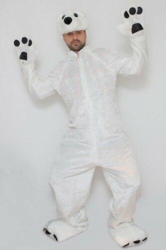 Мужской карнавальный костюм Медведь белый