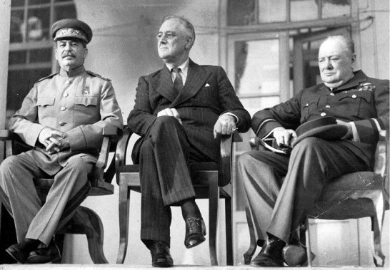 Сталин, Рузвельт, Черчилль, Тегеран-1943