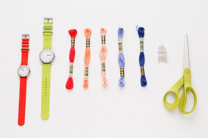 Стильные ремешки для любимых часов своими руками Domanis.Ru