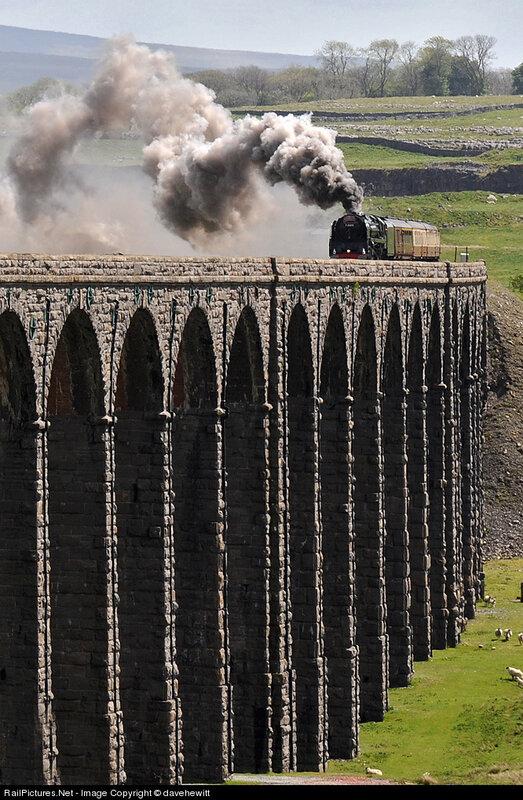 Locomotive British Railways, Settle and Carlisle railway, 40 miles from Leeds, United Kingdom, May 19, 2011