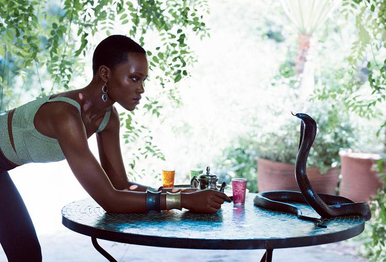 Лупита Ньонго в июльском American Vogue 2014