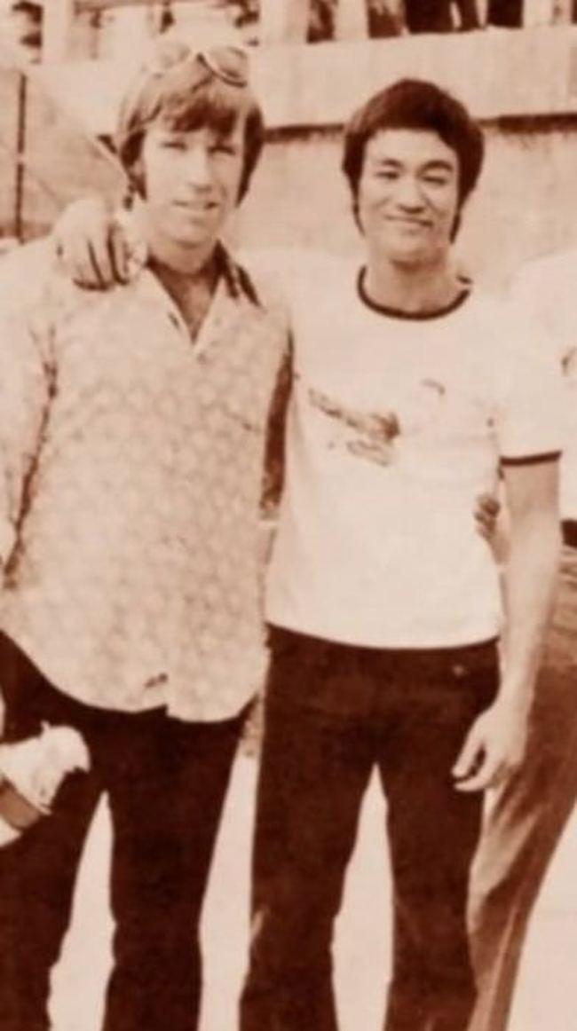 Чак Норрис и Брюс Ли.