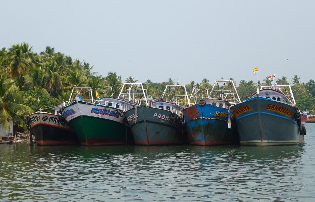 Фотография 25. Лодочки в заводях Кералы.