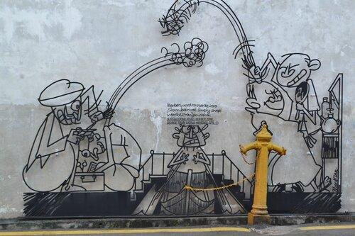 Карикатуры в Пенанге