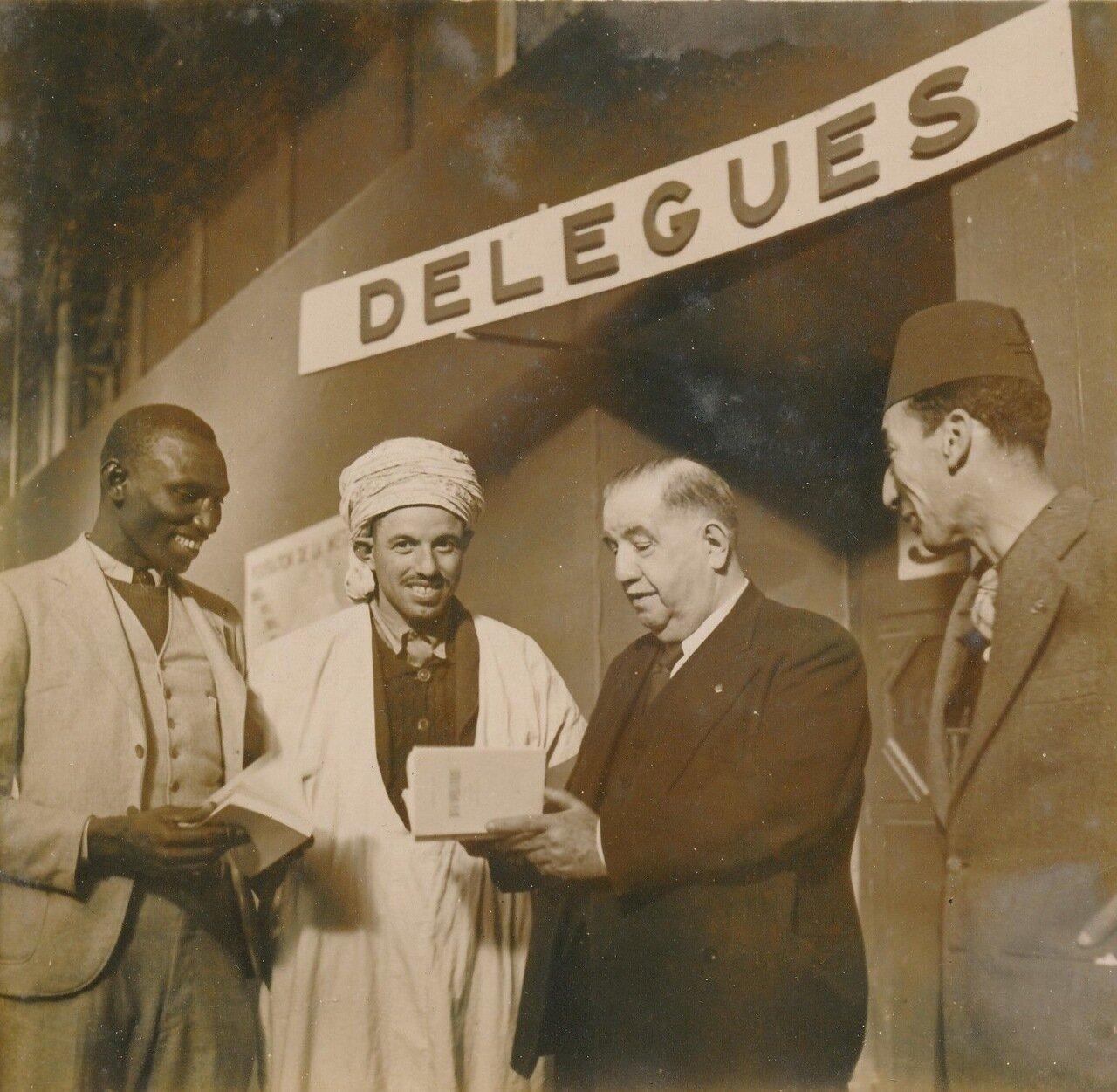 1936. Делегаты Орана и Алжира