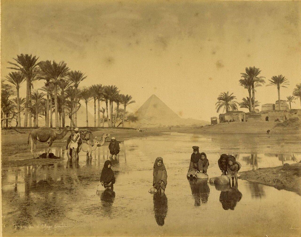 Гиза. Арабская деревня и пирамиды