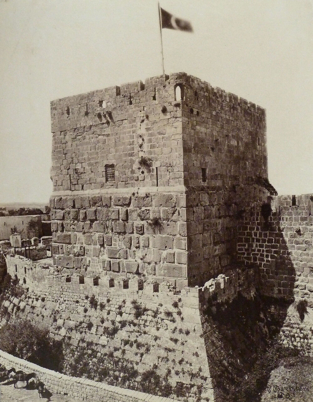 Иерусалим, Башня Давида. 1881