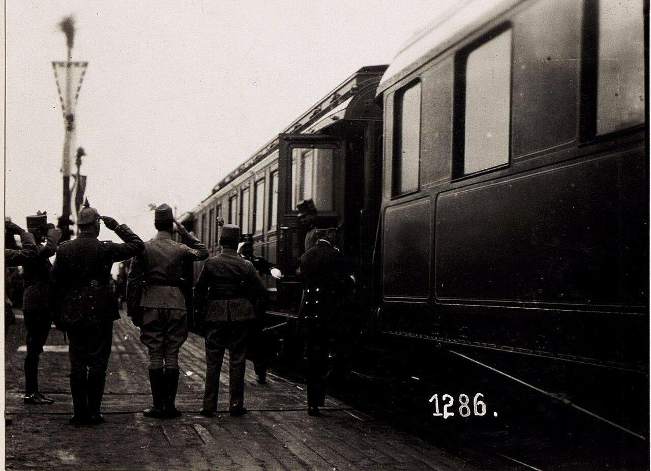 Посещение города австро-венгерским кайзером. (25/II.1918.)