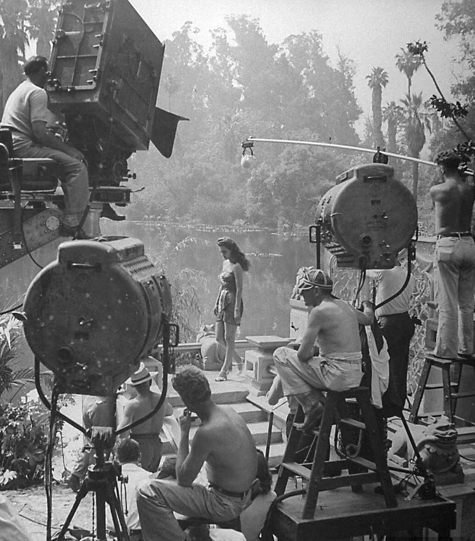 1944. Мария Монтес на съемках «Женщины кобры»