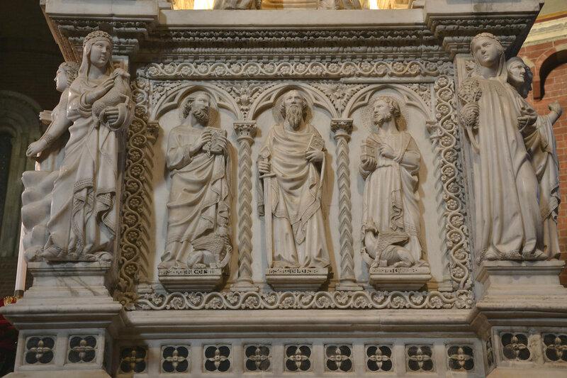 013-аллегории кротости и бедности, апостолы Марк, Павел и Лука.jpg