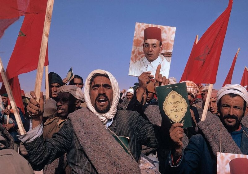 1975 Spanish Sahara October 1975 The Green March from Marocco by Bruno Barbey.jpg
