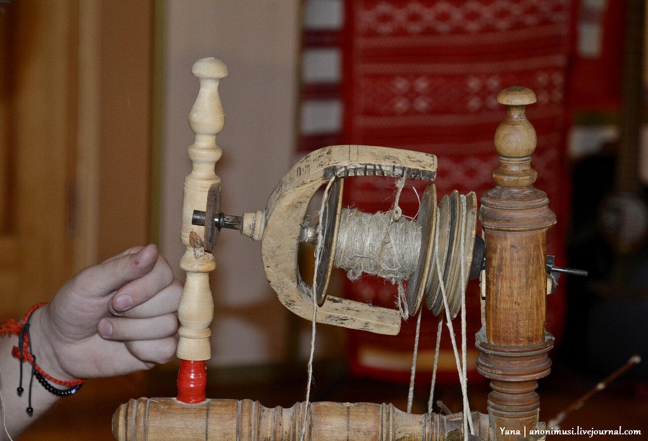 Мастер-класс по прядению и танцы в филиале ветковского музея в Гомеле