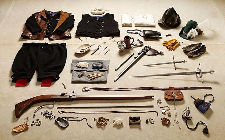 Экипировка подготовленного солдата в битве при Тилбери, 1588 год.