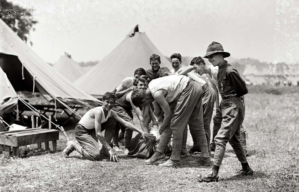 Американские бойскауты начала 20-го века на снимках фотографов (13)