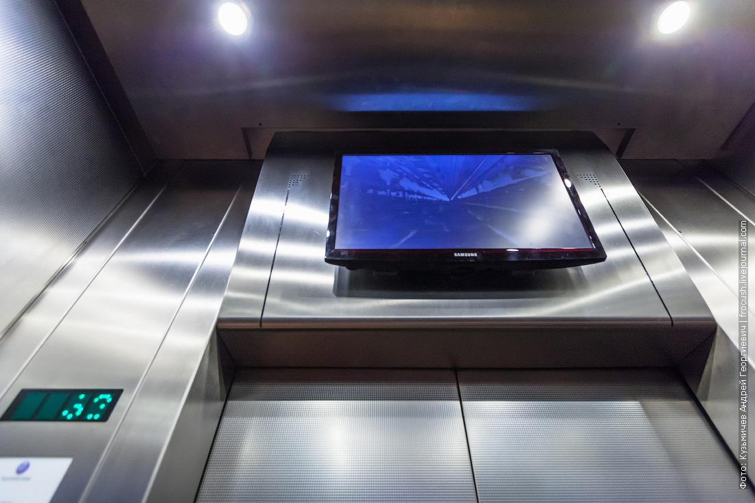 останкинская телебашня скоростной лифт с монитором