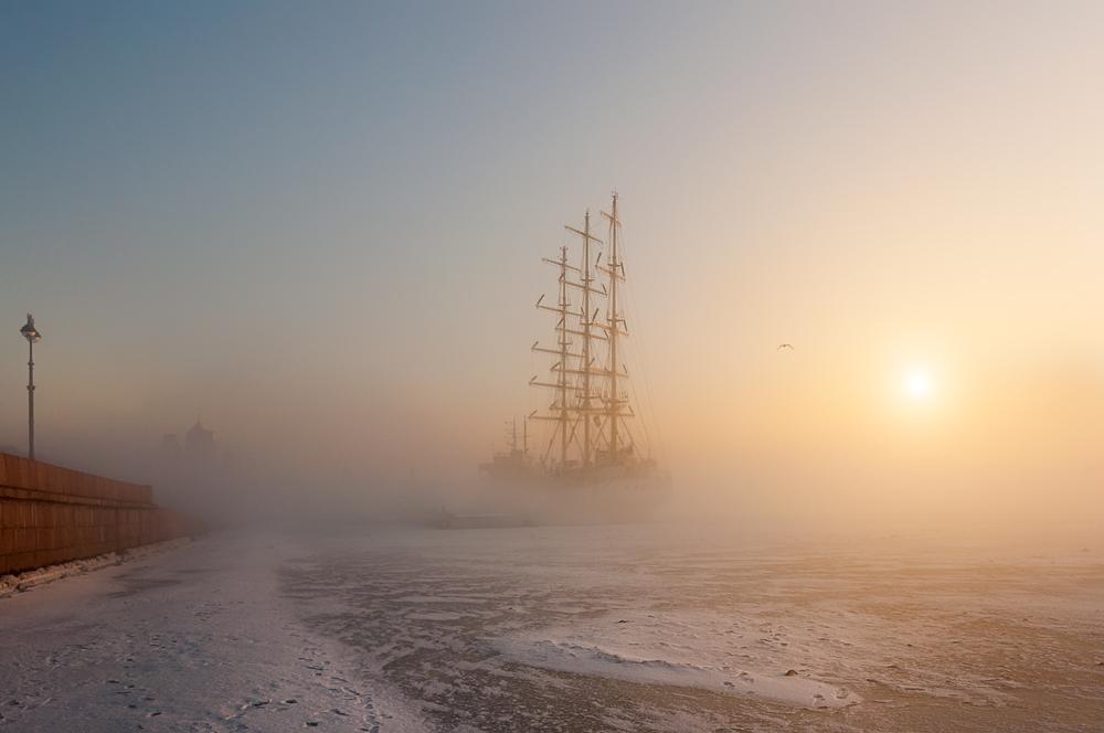 Зимний Петербург на снимках Эдуарда Гордеева