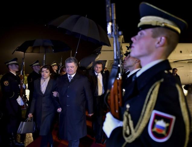 Порошенко вЛюбляне проводит встречу спрезидентом Словении